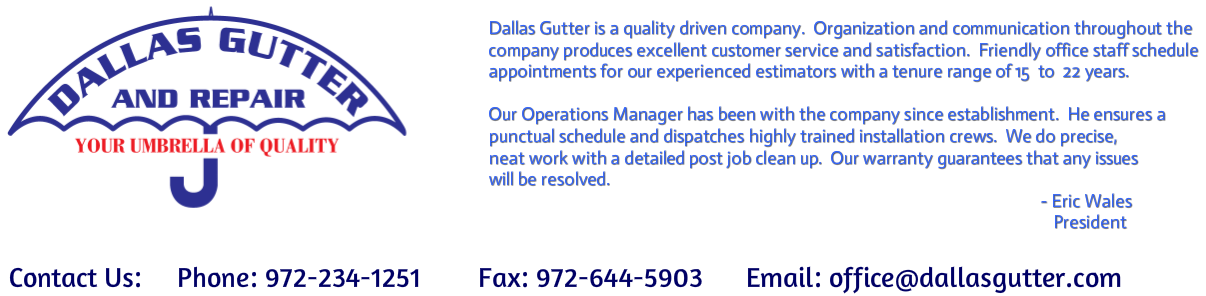 Dallas Gutter and Repair